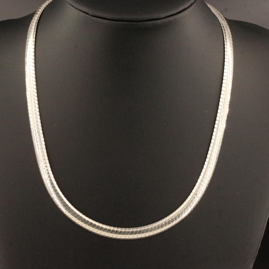 Sterling Omega Chain Necklace