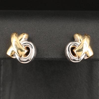 """14K """"XO"""" Electroformed Earrings"""