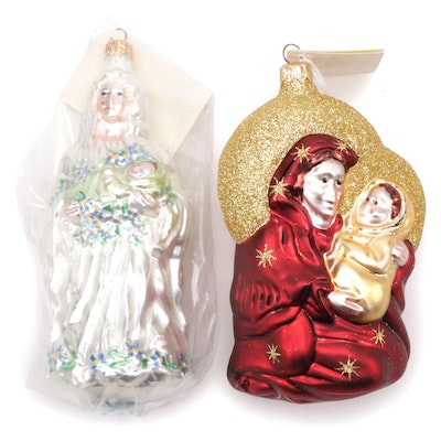 "Patricia Breen Designs ""Madonna and Child"" Christmas Ornaments, Late 20th C."