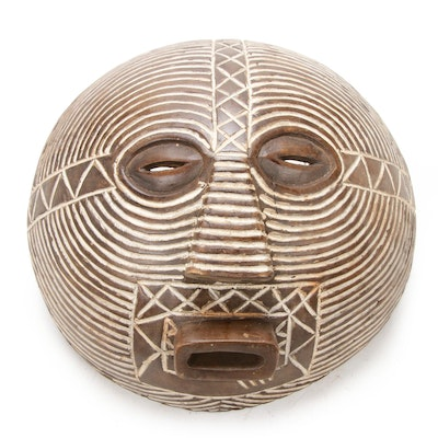 Luba Hand-Crafted Wood Mask, Democratic Republic of the Congo