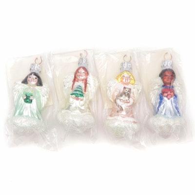 """Patricia Breen Designs """"Quartet of Angels"""" Christmas Ornament Set"""