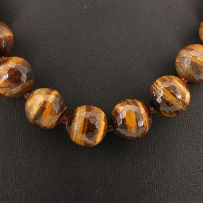 Tiger's Eye Graduated Bead Necklace