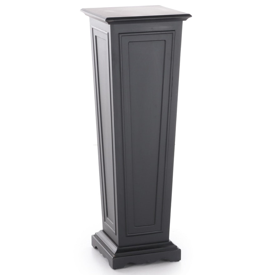 Uttermost Contemporary Ebonized Wood Pedestal Display Stand