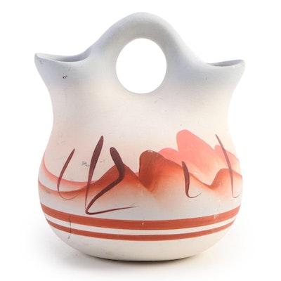 Southwestern Hand-Painted Terracotta Wedding Vase