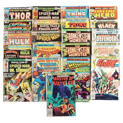 "Vintage Marvel Comics Including ""Thor"", ""Spider-Man"", and ""The Incredible Hulk"""