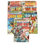 """Vintage """"Iron Man"""" and """"Sgt. Fury and His Howling Commandos"""" Comics"""