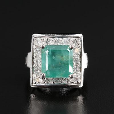 14K 3.54 CT Emerald and 1.10 CTW Diamond Ring