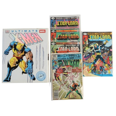 """""""Star-Lord"""" and """"Iron Man"""" Comics with """"Ultimate X-Men"""" DK Book"""