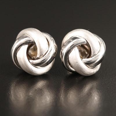 14K Knot Button Earrings