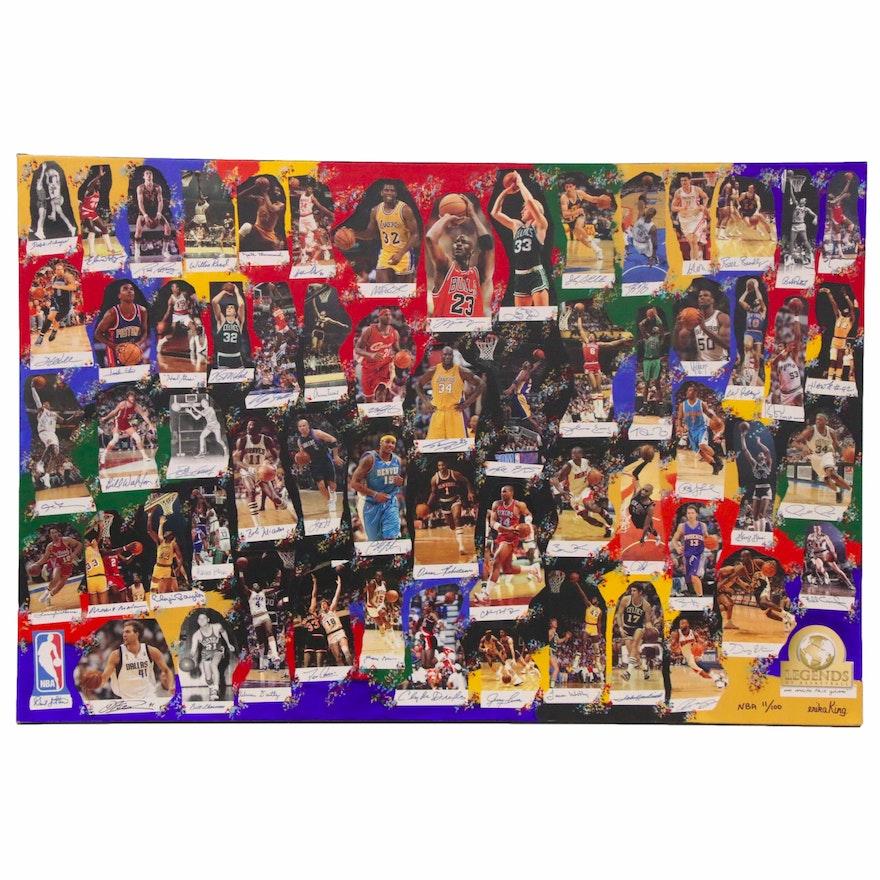 "2010 ""NBA Legends"" Mixed Media Art, Autos of Jordan, Bryant, James, Bird, More"