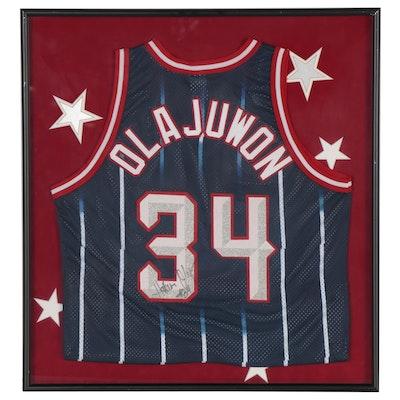 Hakeem Olajuwon 1996-97 Autographed Replica Jersey, Framed