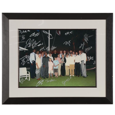Orlando Magic Players with DeVos Family Signed Photo Print, Framed