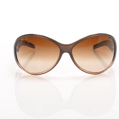 Chanel 6016 CC Semi-Shield Style Gradient Sunglasses with Case