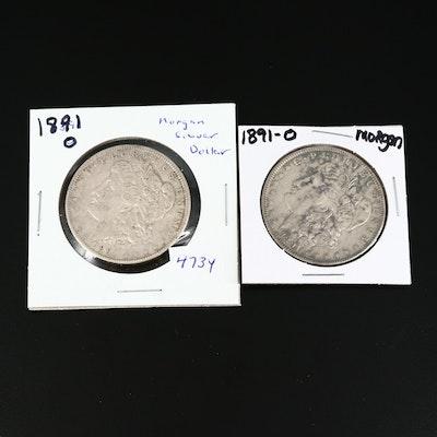 Better Date 1891-O Morgan Silver Dollars