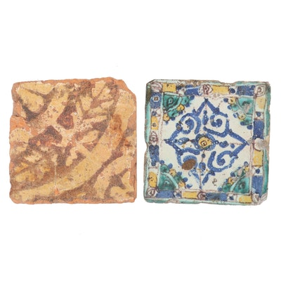 English Penn Village Floor Tile and Moroccan Tile, 14th and 16th Centuries