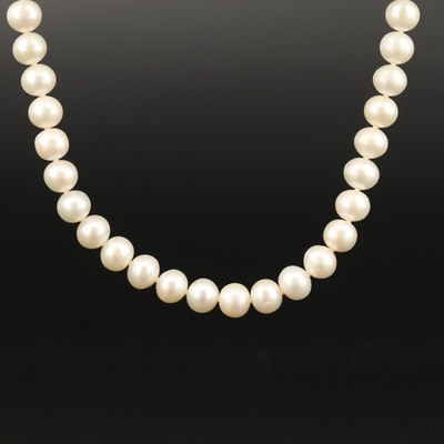 Pearl Necklace with Sterling Clasp