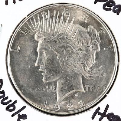 Novelty Double-Headed 1922 Peace Silver Dollar