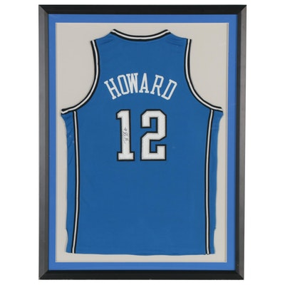 Dwight Howard Signed Orlando Magic Replica Jersey, Framed