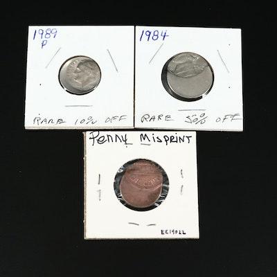 US Mint Error Struck Coins