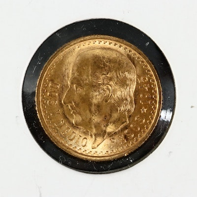 1945 Mexico 2.5 Pesos Gold Coin