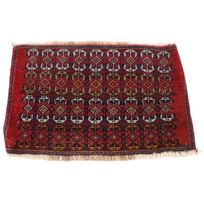 1'8 x 2'6 Hand-Knotted Northwest Persian Wool Floor Mat