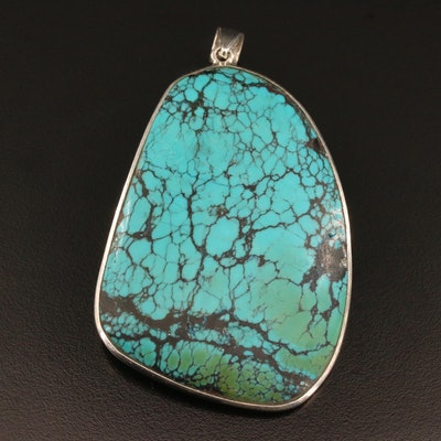 Sterling Silver Faux Turquoise Pendant