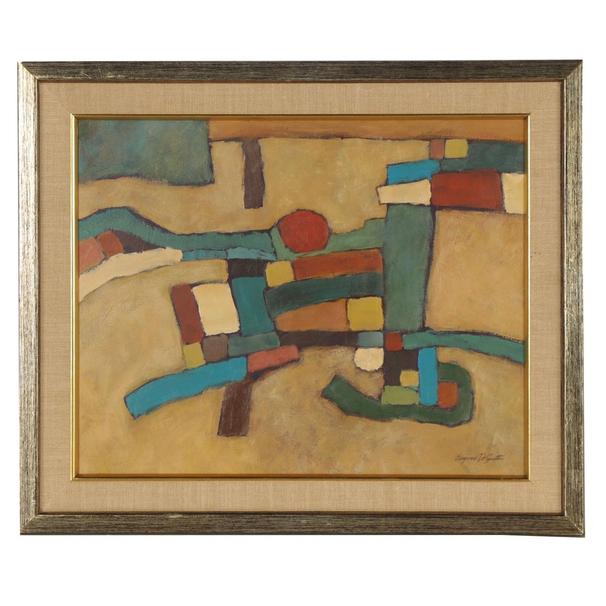 Eugene DeSmith Abstract Oil Painting
