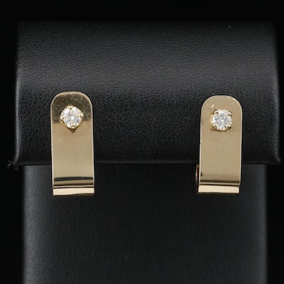 14K 0.31 CTW Diamond Stud Earrings with Earring Enhancers