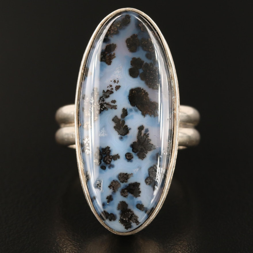 Sterling Silver Dendritic Agate Ring