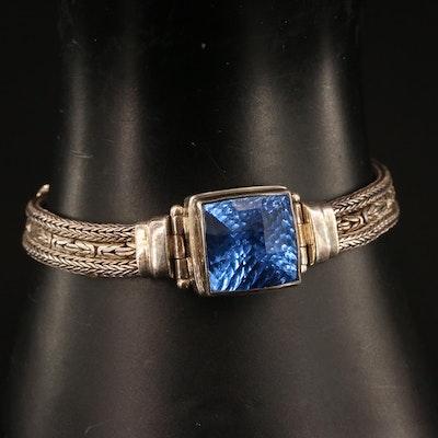 Sarda Sterling Silver Quartz Chain Bracelet