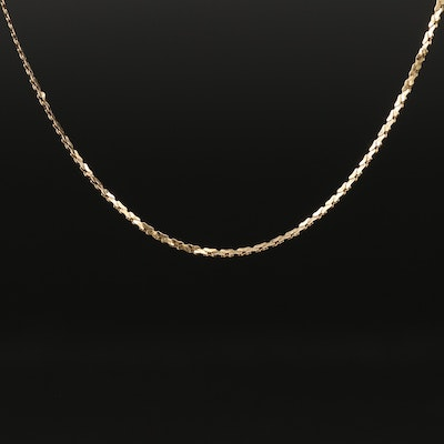 14K Cobra Style Chain Necklace