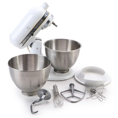 KitchenAid K-45 Mixer with Attachments and Stainless Bowls