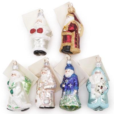"""Patricia Breen Designs """"Mini Santa"""" Christmas Ornaments"""