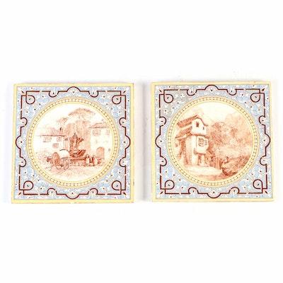Minton's Ceramic L.T. Swetnam Pictorial Ceramic Tiles, Late 19th Century