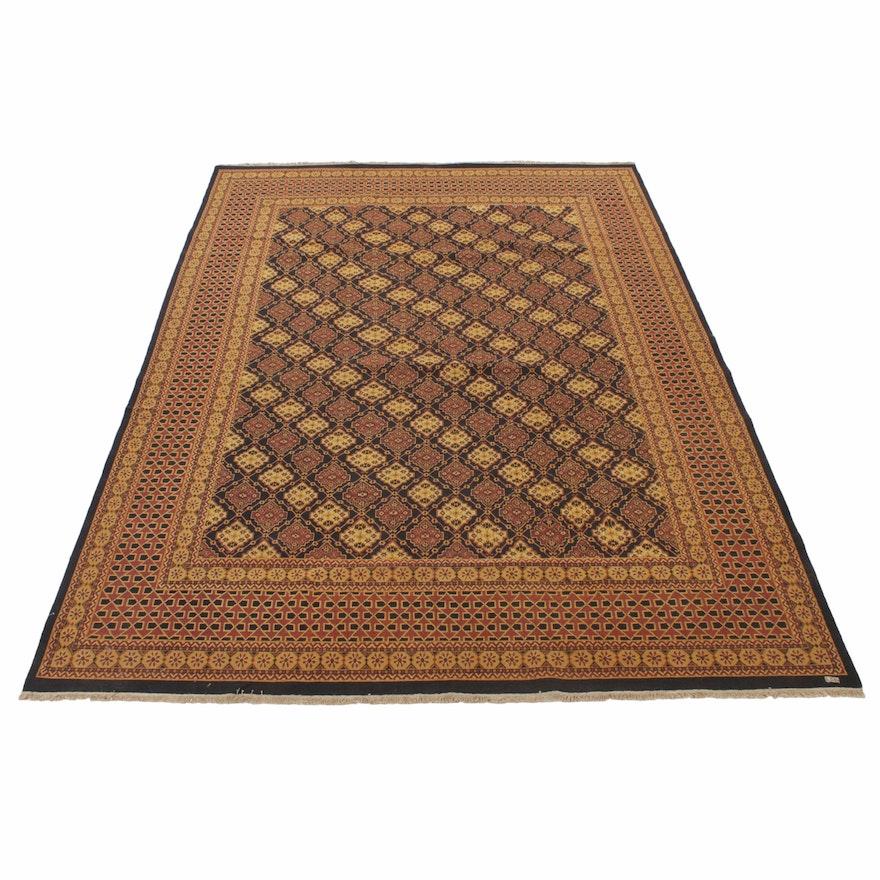 9'11 x 13'9 Handwoven Indian Sumak Wool Rug