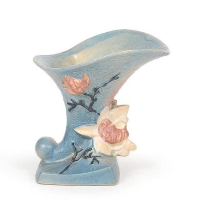 "Roseville Pottery Earthenware ""Magnolia Blue"" Vase, 1940s"