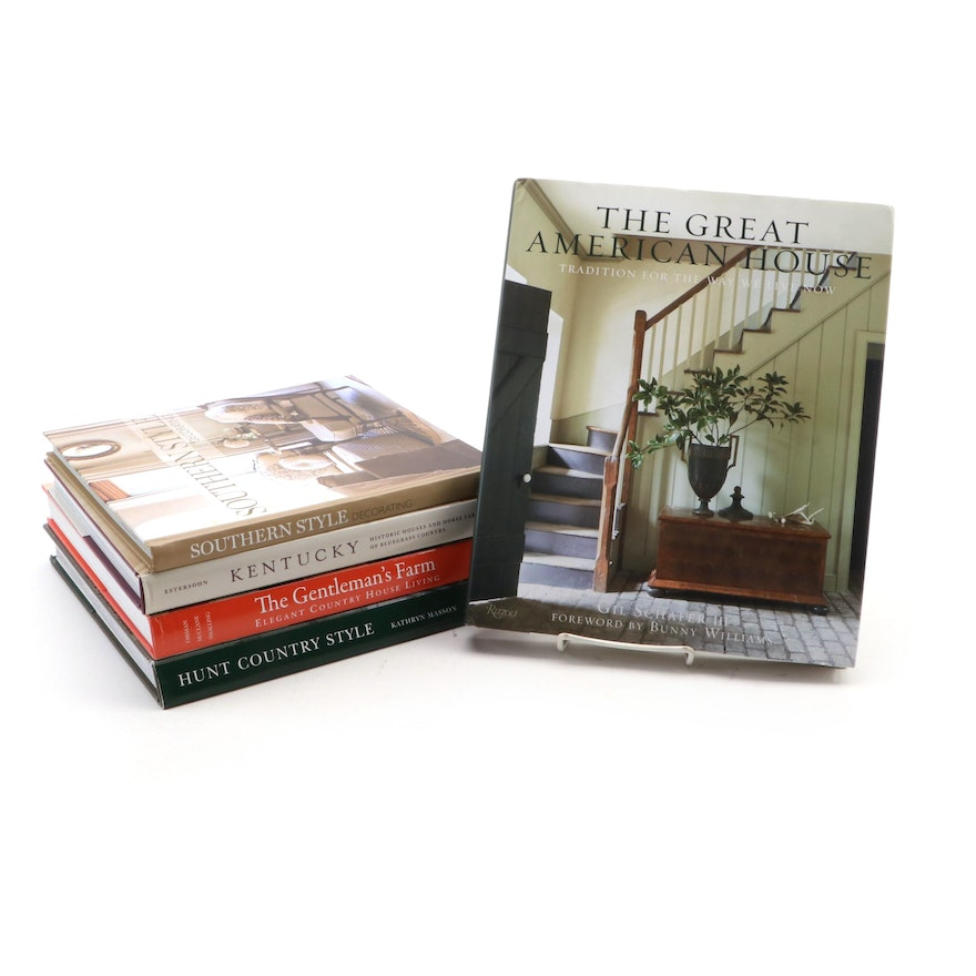 Kentucky and Southern Style Interior Design Reference Books