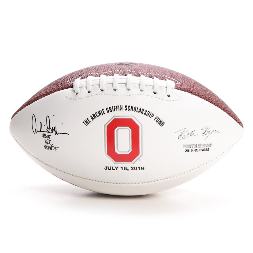 Ohio State Archie Griffin Scholarship Fund Signed Football