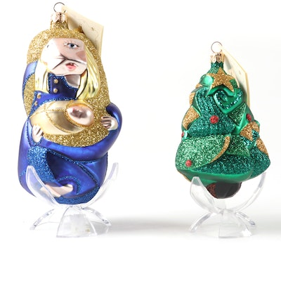 "Patricia Breen Designs ""Madonna for Pablo"" and Christmas Tree Ornaments"