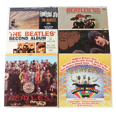 Collection of The Beatles Records