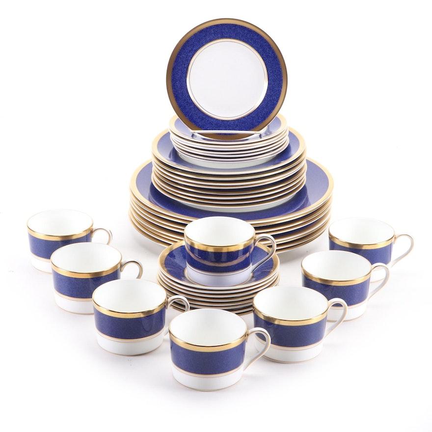 "Coalport ""Athlone Blue"" Bone China Dinnerware Service for Eight, 1970–1993"