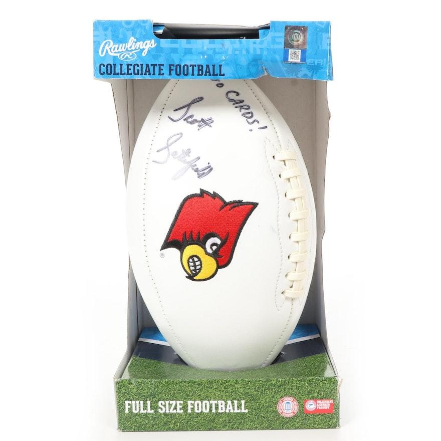 Louisville Cardinals Rawlings Collegiate Football Signed by Scott Satterfield
