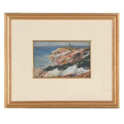 Impressionist Style Coastal Landscape Oil Painting