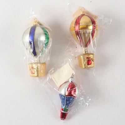 Paula Breen Designs Hot Air Balloon Ornaments, Late 20th Century