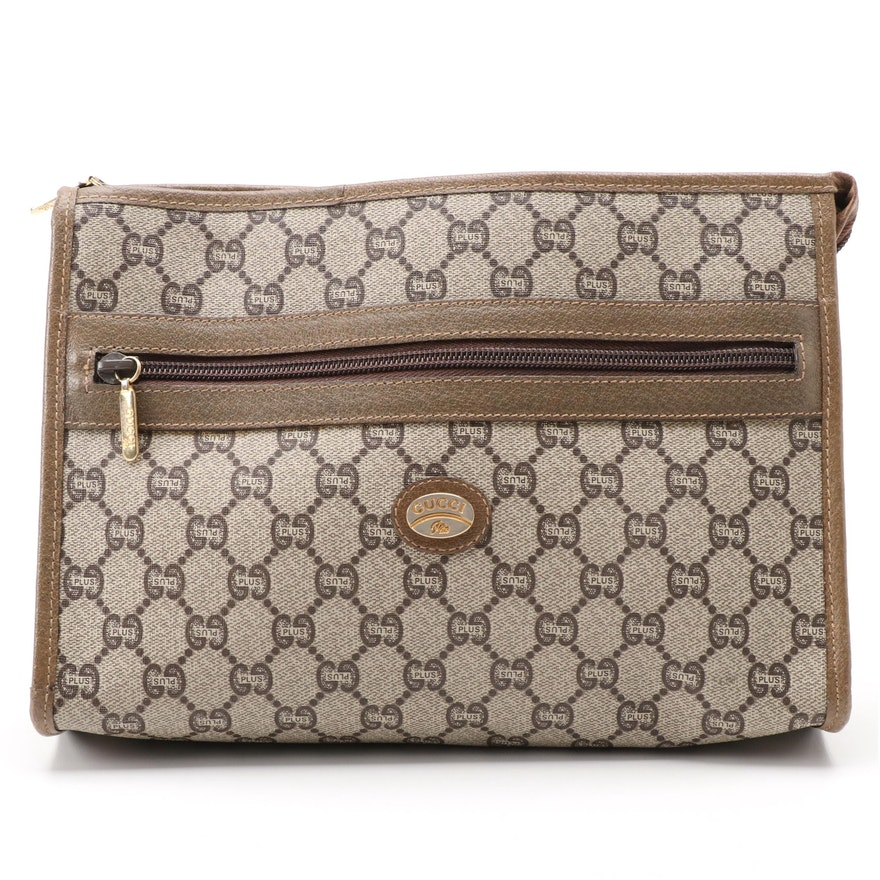 Gucci Plus GG Coated Canvas Zip Pouch