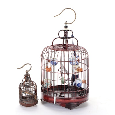 East Asian Style Wooden Bird Cages