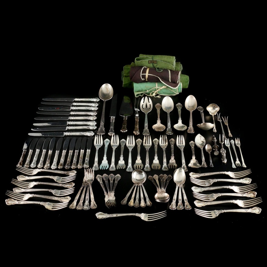 "Gorham Sterling Silver and Silver Plate ""Chantilly"" Flatware"