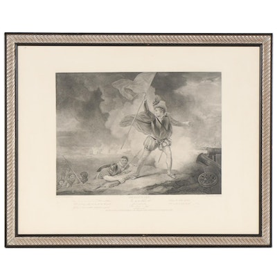 """Reproduction Print after Boydell Shakespeare Folio Engraving """"The Seven Ages"""""""