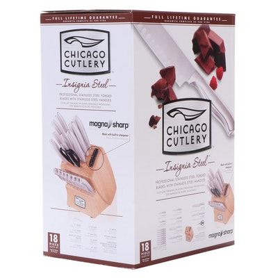 Chicago Cutlery Insignia Steel Cutlery Set with Block