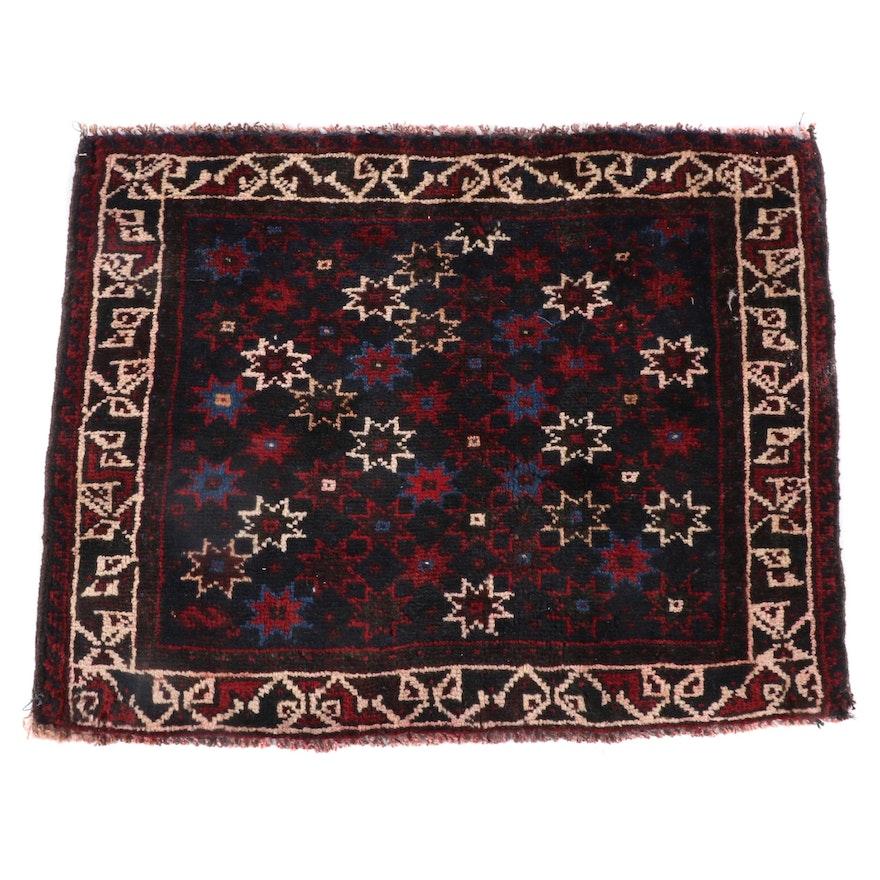 2'0 x 2'6 Hand-Knotted Caucasian Kazak Wool Floor Mat